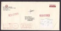 Egypt Egypte AMERICAN UNIVERSITY In CAIRO Airmail Registered Recommandée Einschreiben Meter Stamp Cover 1999 To Denmark - Egypte