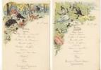 Menu Menus Du 22 Juillet 1903 (Lot De 2) Illustration Champêtre - Menu