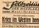 M622 Page Spéciale Armistice Journal Allemand De L´Armée De La Moselle 24 Juin 40 - Documents