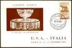 TENNIS - ITALIA ROMA 1961 - COPPA DAVIS - FINALE INTERZONE - ITALIA Vs U.S.A. - CARTOLINA UFFICIALE - Tennis