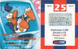 ITALY - Disney/Donald Duck, TIM Prepaid Card 30 Euro, Used - Disney