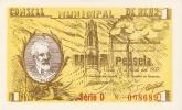 BILLETE DE 1 PTA DEL CONSELL MUNICIPAL DE REUS   (BANKNOTE) - Non Classificati