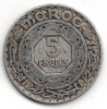 MAROCCO 5 FRANCS 1370 - Marocco