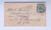 179/18 - Carte De Visite TP Armoiries CHARLEROY SUD 1910 - Griffe D'Origine ROMEDENNE-SURICE - Poststempel