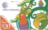 TARJETA DE ANTILLAS DE CABLE & WIRELESS LORO -PARROT  (213BCAC)