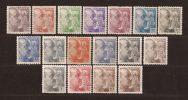 ES919-L3982TAN.Spain.Espagne GENERAL FRANCO DENTADO GRUESO.1940/45 (Ed 919/35**)sin Charnela MAGNIFICA CERTIFICADO - 1931-50 Nuevos & Fijasellos