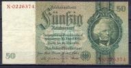 Germany - 1933 - 50 Mark  I/X  -     (VF/F ) .P-182a ...R 175a - 50 Reichsmark
