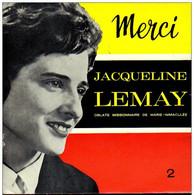 """* 7"""" EP *  JACQUELINE LEMAY - MERCI 2 (Holland Ex-!!!) - Gospel En Religie"""