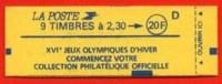 FRANCE  :_TYPE  MARIANNE  DE  BRIAT_CARNET  N° 2614-C 8_NEUF** - Libretas