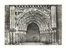 cp, 79, Argenton-Ch�teau, Portail de l'Eglise, voyag�e 1966