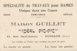Publicite-maison Guillet-travaux Dames-puteaux(seine)-en L´état-120mmx80mm - Advertising