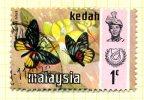 Malaya Kedah 1971 Butterflies 1c Definitive, Fine Used - Kedah