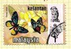 Malaya Kelantan 1971 Butterflies 1c Definitive, Fine Used - Kelantan