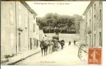 CPA  PUISSERGUIER, Attelage De Chevaux, Transport De Barriques  4468 - Non Classificati