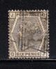 Great Britain Used Scott #62 Plate 13 Position QJ 6p Victoria - 1840-1901 (Victoria)