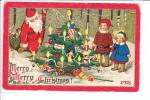 Merry Merry Christmas Santa Claus Children Christmas Tree MEG POSTMARK Panama California Exposition 1916 - Santa Claus