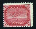 COOK IS   Torea  1/-  Wmk  NZ Over Star Deep Carmine Perf 11 SG  20a  * MH - Cook Islands