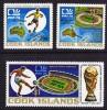 COOK ISLANDS  1974  Football World Championship  Map, Stadium  Sc 4023-5,  ** MNH - Cook Islands