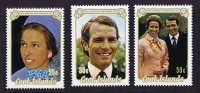 COOK ISLANDS  1973   Princess Anne Wedding  Sc 369-371  ** MNH - Cook Islands