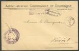 Lettre En Franchise à En-tête Communale De L´Administration De SOUMAGNE , Càd Sc FLERON Du 30-VI-1915 Vers Verviers + Ce - WW I