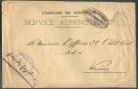 Lettre En Franchise à En-tête Communale De L'Administration De HOMBOURG , Càd Pont De HOMBOURG Le 29-5-1917  Vers Vervie - WW I