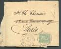 5 Centimes Obl. Dc LUXEMBOURG-VILLE S/Bande D'imprimée Du 3-5-1897 Vers Paris - 6893 - 1895 Adolphe Right-hand Side
