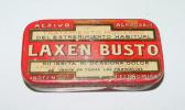 Old Tin Box Advertising Laxen Bust - Pharmacy - Antigua Caja Metalica Litografiada Con Publicidad De Laxen Busto - Farma - Cajas
