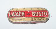 Old Tin Box Advertising Laxen Bust - Pharmacy - ANTIGUA CAJA DE HOJALATA LITOGRAFIADA CON PUBLICIDAD DE FARMACIA, LAXEN - Cajas