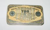 Old Tin Box Advertising DR. ANDREU - Pharmacy - ANTIGUA CAJA DE HOJALATA LITOGRAFIADA CON PUBLICIDAD DE PASTA PECTORAL I - Cajas