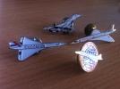 PIN´S LOT DE 4 - AVION CONCORDE CHELU, TABLO-PARIS 1992, DEMONS ET MERVEILLES - Airplanes