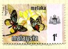 Malaya Malacca 1971 Butterflies1c Definitive, Fine Used - Malacca
