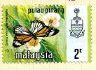 Malaya Penang 1971 Butterflies 2c Definitive, Fine Used - Penang