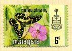 Malaya Penang 1971 Butterflies 6c Definitive, Fine Used - Penang
