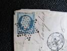 5094 -1854 Utilisation Tardive 25c Bleu Napoleon III Président  Mine Fonderie Zinc Londres Etoile Granvillers Oise - 1851 – London (United Kingdom)