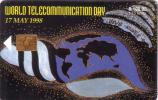MAURICE WORLD TELECOMMUNICATIONS DAY 17 MAY 1998 20000 EX SUPERBE  UT - Maurice
