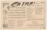 CPA PARTITION ET PAROLES - CA IRA - CHANT REVOLUTIONNAIRE - Music And Musicians