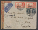 Bahrain  1941   4A6P  Rate  REGISTERED AIR MAIL  Cover To India Arrival Censor...TEAR ON FRONT # 25225 - Bahreïn (1965-...)