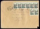 1957 - 8x N°1106 SUR LSC COMMERCIALE - TARIF 120fr LETTRE 6ème ECHELON (jusqu´à 500gr) - Postmark Collection (Covers)