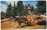 Old Colour Picture Postcard Of Santa Claus Village Val David  Quebec,used With Rare Metered Slogan Cancel - Montreal