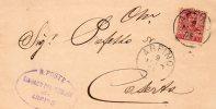 1905  LETTERA CON ANNULLO  ARPINO CASERTA - Marcofilía