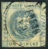 Peru #7 Used 1d Slate Blue From 1858, Expertized Twice - Peru