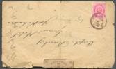 2 Sen Obl. Locale S/L. Vers Grand Hôtel De Yokohama Et Etiquette De Fermeture De La Poste (Officialy Sealed - Department - Lettres & Documents
