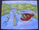 BHUTAN / MNH +++DISNEY  - PANAMA CANAL - TOWING LOCO'S+++ - Trains