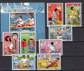 Romania 1992 Olympic Games Barcelona, Fencing, Rowing Etc., Space Set Of 8 + S/s MNH - Verano 1992: Barcelona