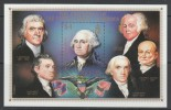 BLOC NEUF DE BELIZE - PORTRAIT DE GEORGE WASHINGTON (AUTRES PRESIDENTS DES ETATS-UNIS DANS LA MARGE) N° Y&T 69 - George Washington