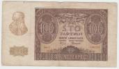 """Poland 100 Zlotych 1940 """"""""VG+"""""""" Banknote German Occ. WWII - Polonia"""