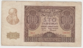 "Poland 100 Zlotych 1940 """"VG+"""" Banknote German Occ. WWII - Polen"