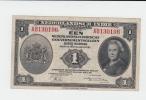 NETHERLANDS INDIES 1 GULDEN 1943 VF CRISP Banknote P 111 - Dutch East Indies
