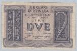 Italy 2 Lire 1939 VF CRISP Banknote P 27 - [ 1] …-1946: Königreich