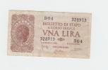ITALY 1 Lire 1944 VF P 29b 29 B - Italia – 1 Lira